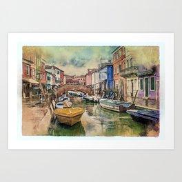 Colors of Burano Art Print