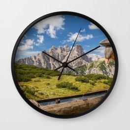 Three Peaks of Lavaredo - Sexten Dolomites Italy Wall Clock