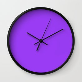 Bright Fluorescent Neon Purple Wall Clock