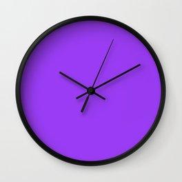 Bright Fluorescent Neon Purple Wall Clock