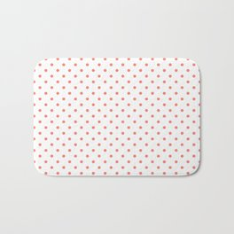 Dots (Salmon/White) Bath Mat