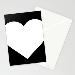 Heart (White & Black) Stationery Cards