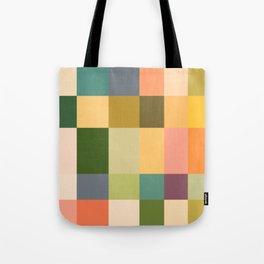 Vintage Checkered Pattern Tote Bag
