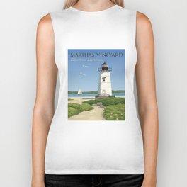 Martha's Vineyard Edgartown Lighthouse Biker Tank