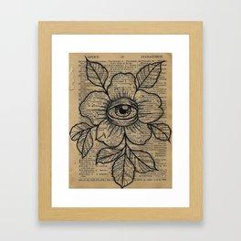 Flower with Eye: Beauty is in the Eye... Framed Art Print