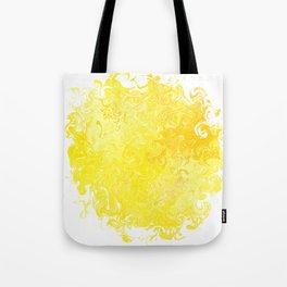Yellow Swirl Tote Bag