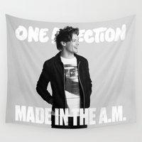 louis tomlinson Wall Tapestries featuring Made in the A.M Louis by kikabarros
