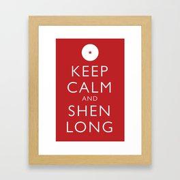 Keep Calm and Shen Long Framed Art Print