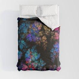 Fractal leaves Comforters