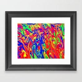 Neon Distraction Framed Art Print