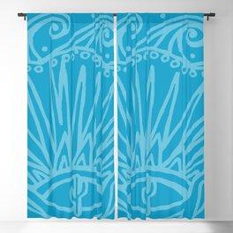 Saguaro Sunburst Blue Blackout Curtain