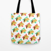 taco Tote Bags featuring TACO TIME!  by Kaitlin Smith