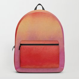 African colors 1 - watercolor abstract Backpack