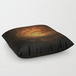 Cave, Papercut lightbox Floor Pillow