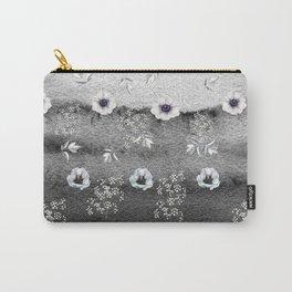 Winter Flower Garden Carry-All Pouch