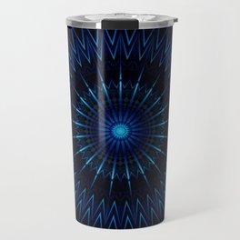 Blue Light Mandala Travel Mug