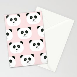 Panda Love -Pink Stationery Cards