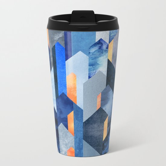Kyanite & Salt Stone Metal Travel Mug