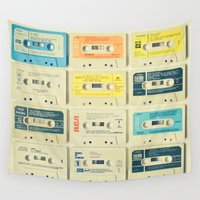 pop Wall Tapestries featuring All Tomorrow's Parties by Cassia Beck