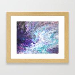 Purple Ocean Framed Art Print