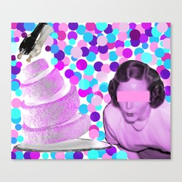 Her Dislike of Wedding Cakes Blew Me Away Canvas Print