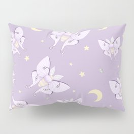 Lilac Luna Moth Pillow Sham