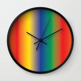 Colourful Rainbow Shades Follow the Rainbow Wall Clock