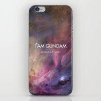 gundam iPhone & iPod Skins featuring Gundam Retro Space 2 by Stefan Trudeau