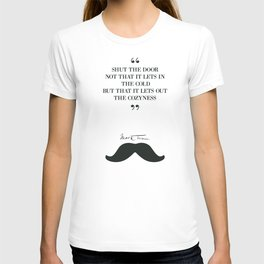 Mark Twain, humor quote on cozyness, funny sentence, lettering love T-shirt