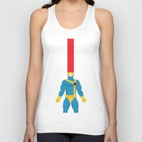 cyclops Tank Tops featuring Cyclops by gallant designs