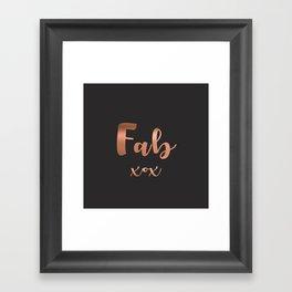 Fab xox Framed Art Print