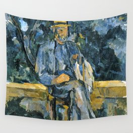 1906 - Paul Cezanne - Portrait of Peasant Wall Tapestry