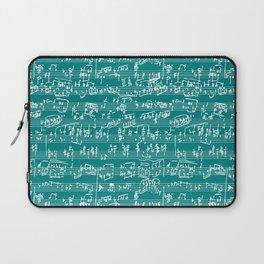 Hand Written Sheet Music // Teal Laptop Sleeve