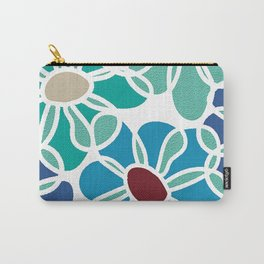 Retro Flowers Carry-All Pouch