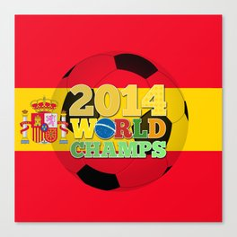 2014 World Champs Ball - Spain Canvas Print