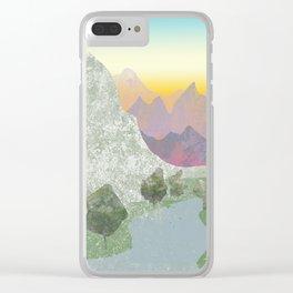 Paisaje de montaña Clear iPhone Case