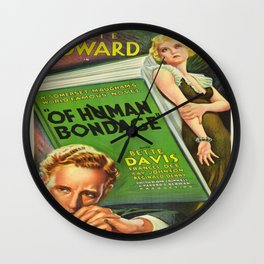 Vintage poster - Of Human Bondage Wall Clock