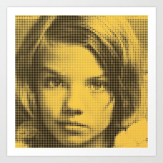 Face of raster Art Print