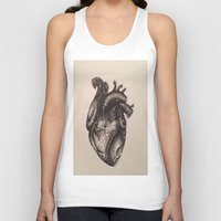 anatomical heart Tank Tops featuring Anatomical Heart by Redmonks