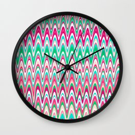 Making Waves Pink and Preppy Wall Clock