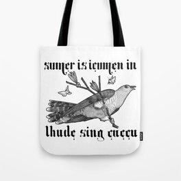 Lhude Sing Cuccu Tote Bag