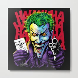 The Joker Laughs Last Metal Print