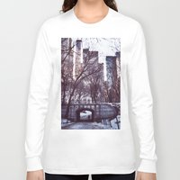 central park Long Sleeve T-shirts featuring Central Park by MereMades
