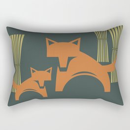 Foxes in the Harvest Rectangular Pillow