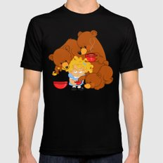 Goldilocks and the Three Bears MEDIUM Mens Fitted Tee Black