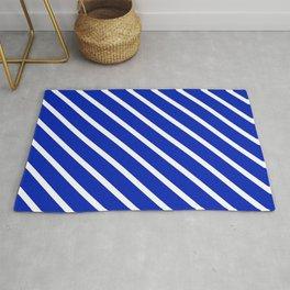 Sapphire Diagonal Stripes Rug