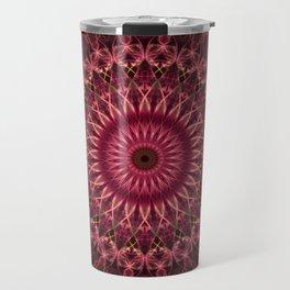 Dark red mandala Travel Mug