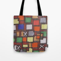 knit Tote Bags featuring knit by colli1.3designs