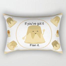 Flan it Rectangular Pillow