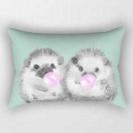 Playful Twins Hedgehog Rectangular Pillow